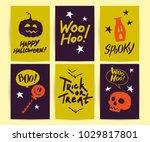 vector collection of halloween... | Shutterstock .eps vector #1029817801