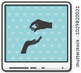 two hands giving a money flat... | Shutterstock .eps vector #1029820021