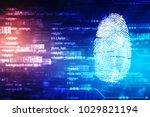 security concept  fingerprint... | Shutterstock . vector #1029821194