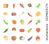 fruits  vegetables and foods... | Shutterstock .eps vector #1029823174