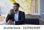 italian man talking by phone... | Shutterstock . vector #1029824089