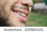 guy has curved nose  black... | Shutterstock . vector #1029824101