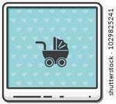 pram flat vector icon. | Shutterstock .eps vector #1029825241