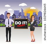 funny guy in casual business... | Shutterstock .eps vector #1029826645