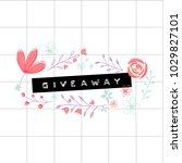 giveaway embossed word on... | Shutterstock .eps vector #1029827101