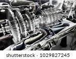 turbine engine profile. ... | Shutterstock . vector #1029827245