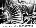 turbine engine profile. ... | Shutterstock . vector #1029827251