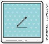 pencil flat vector icon.