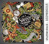 cartoon vector doodles football ...   Shutterstock .eps vector #1029830215