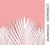 tropical palm leaf on pink... | Shutterstock .eps vector #1029830617