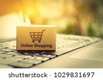 online shopping   ecommerce and ... | Shutterstock . vector #1029831697