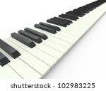 3d render of piano musical... | Shutterstock . vector #102983225