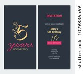 5 years anniversary invitation... | Shutterstock .eps vector #1029836569