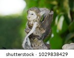 Small photo of Vintage Elf Porcelain Figurines with damages, very charming girl elves.