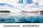 impressive spring cityscape of...   Shutterstock . vector #1029838561