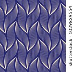 the geometric pattern with wavy ... | Shutterstock . vector #1029839554