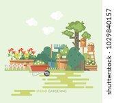 spring gardening vector flat... | Shutterstock .eps vector #1029840157