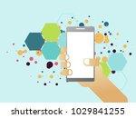 communication technology device ... | Shutterstock .eps vector #1029841255