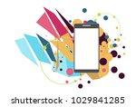 communication technology device ... | Shutterstock .eps vector #1029841285