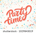 party time banner. | Shutterstock .eps vector #1029843019