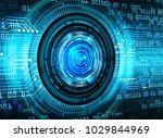 binary circuit board future... | Shutterstock .eps vector #1029844969