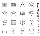 flat vector icon set   phone... | Shutterstock .eps vector #1029849079