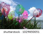 the butterfly nets are colorful ... | Shutterstock . vector #1029850051