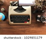 old retro vintage hipster...   Shutterstock . vector #1029851179