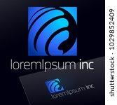 abstract blue vector logo for... | Shutterstock .eps vector #1029852409