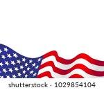 waving usa flag vector... | Shutterstock .eps vector #1029854104