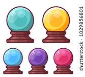 fortune teller crystal sphere... | Shutterstock .eps vector #1029856801