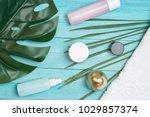 cosmetics for skin care  cream ... | Shutterstock . vector #1029857374