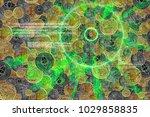 laser light cyber hud with... | Shutterstock . vector #1029858835