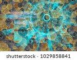 laser light cyber hud with... | Shutterstock . vector #1029858841