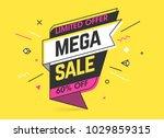 mega sale  limited special... | Shutterstock .eps vector #1029859315