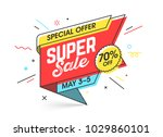 super sale  special offer... | Shutterstock .eps vector #1029860101