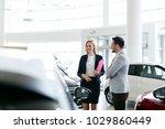 professional salesperson... | Shutterstock . vector #1029860449
