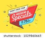 weekend specials  sale banner... | Shutterstock .eps vector #1029860665