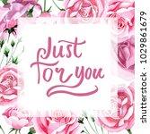 wildflower pink tea rosa flower ... | Shutterstock . vector #1029861679