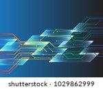 spectrum technology circuit on... | Shutterstock .eps vector #1029862999