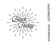 black friday with burst icon | Shutterstock .eps vector #1029863095