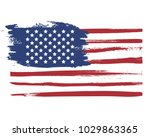 grunge flag of usa | Shutterstock .eps vector #1029863365