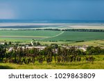 landscape view on the country... | Shutterstock . vector #1029863809