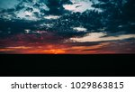 sunset landscape upon the field | Shutterstock . vector #1029863815