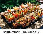 catering in wedding day | Shutterstock . vector #1029865519