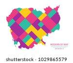 map of cambodia   modern...   Shutterstock .eps vector #1029865579