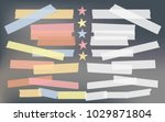 blue  red  yellow adhesive ... | Shutterstock .eps vector #1029871804