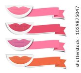 mouth and shades of lipstick... | Shutterstock .eps vector #1029875047