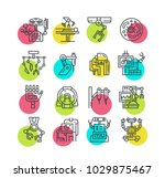 moder line style set with... | Shutterstock .eps vector #1029875467