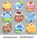 set of logos  labels of fresh... | Shutterstock .eps vector #1029878647